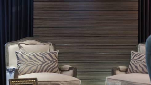 ESS 05: Salas de estilo rústico por NIVEL TRES ARQUITECTURA
