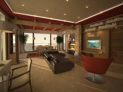 soggiorno #2: Soggiorno in stile in stile Moderno di alfredo anfossi architetto