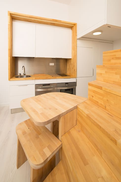 Cozinhas minimalistas por Beriot, Bernardini arquitectos