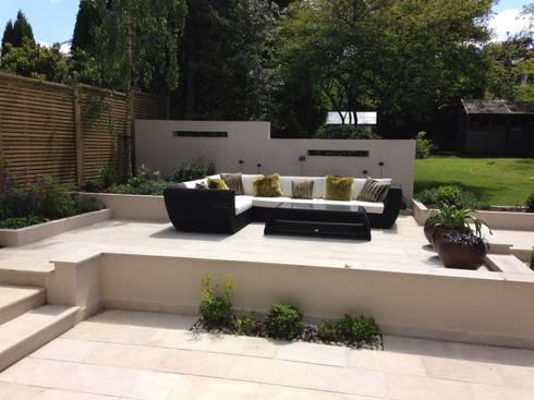 Contemporary Split level terrace by Gardenplan Design | homify