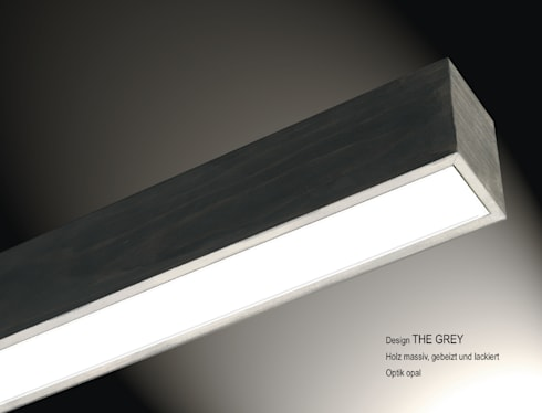 """Lignalux Design """"The Grey: moderner Flur, Diele & Treppenhaus von Lignalux"""