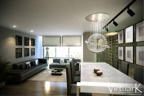 Proyecto Interior: Comedor de estilo  por Virtuark