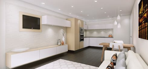 3D visuals for Kitchen designer HUB KITCHENS: modern Kitchen by Outsourcing Interior Design