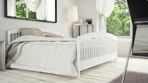View_01_Bed: Camera da letto in stile in stile Minimalista di V Multimedia