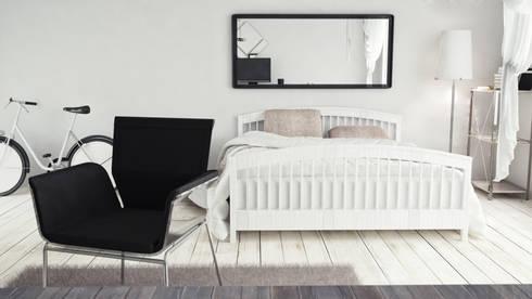 View_04_Main: Camera da letto in stile in stile Minimalista di V Multimedia