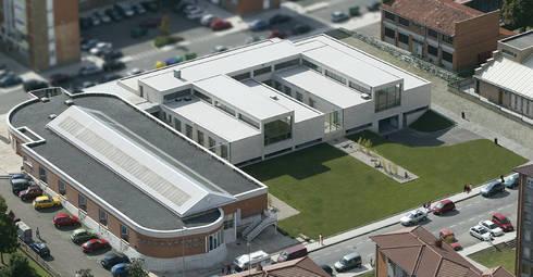 Centro de Salud de Contrueces - Lastra Arquitectos: Clínicas de estilo  de Lastra Arquitectos