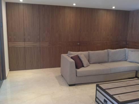 Departamento Bosques: Casas de estilo moderno por Proyectto Mc2 S. A. de C. V.