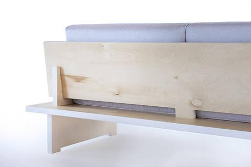 CINQUE – divano: Soggiorno in stile in stile Minimalista di SMAG design
