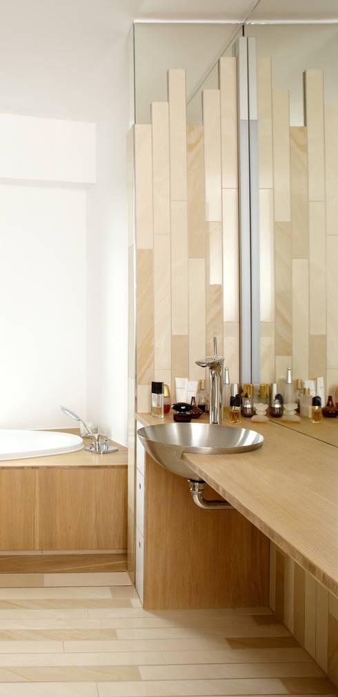 barrierefreies Bad:  Badezimmer von c.f.Architekten