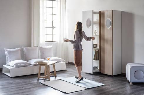 Ossobuco Storage: Soggiorno in stile in stile Minimalista di GiuseppeGioiaDesigner