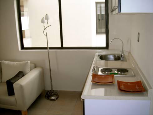 Departamentos Narvarte: Casas de estilo moderno por Proyectto Mc2 S. A. de C. V.
