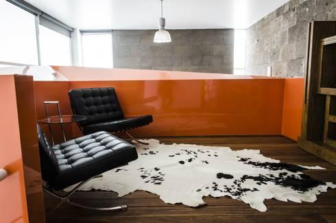CASA C+G: Salas de estilo moderno por PLASTIK ARQUITECTOS