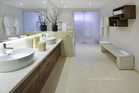 Espacios ARCA: Baños de estilo  por Marmoles ARCA