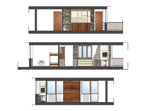 Sezioni di progetto: Case in stile in stile Rustico di Errequadro Progetto