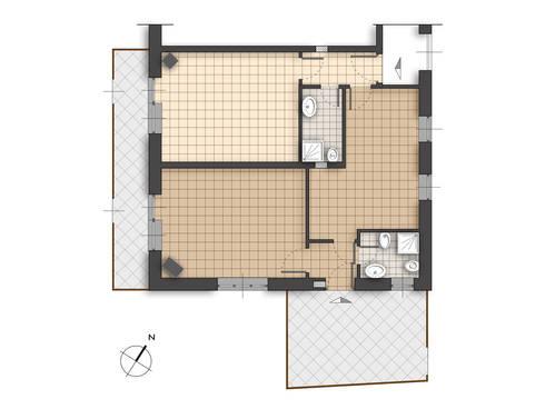 Planimetria stato di fatto: Case in stile in stile Rustico di Errequadro Progetto