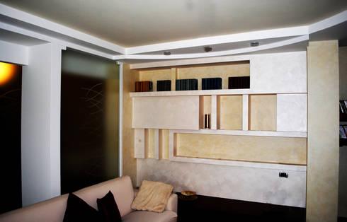 CONTEMPORANEO REINTERPRETATO: Soggiorno in stile in stile Moderno di GIOIA Biagio ARCHITETTO