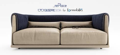 rePlace – Divano: Soggiorno in stile in stile Eclettico di GiuseppeGioiaDesigner