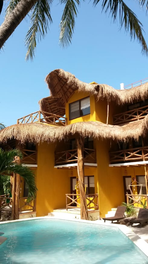 Hotel Holbox Dreams : Hoteles de estilo  por sandro bortot arquitecto