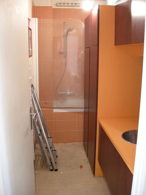 Salle de bain - Homestaging: Salle de bain de style  par Parisdinterieur