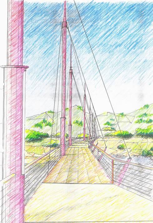 Concurso para pasarela peatonal:  de estilo  de Miguel Angel Blanco Callejpo Arquitecto