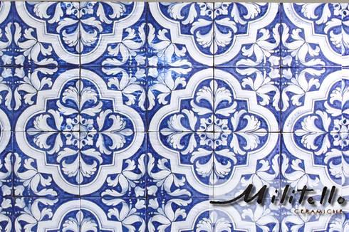 Pavimenti e rivestimenti in maiolica decorati a mano di - Piastrelle in maiolica ...