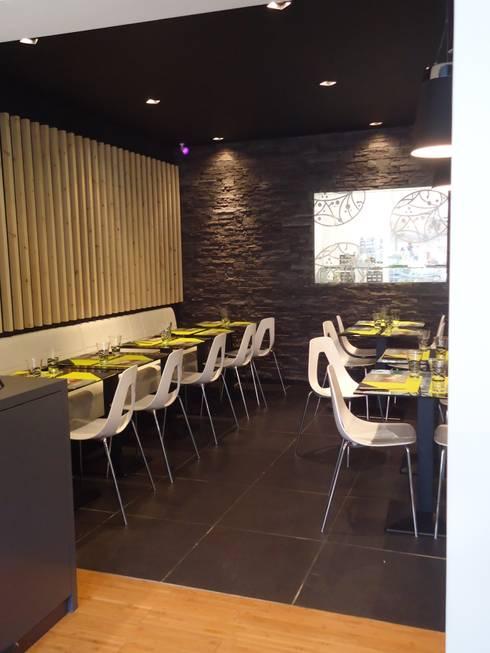 Am nagement restaurant cote sushi by ma interieur homify for Amenagement restaurant interieur