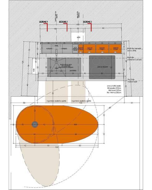 Cucina nel trullo: Cucina in stile  di Worma Lightbuilding
