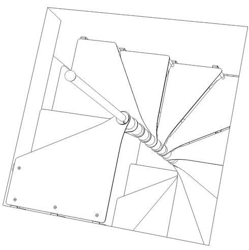 Chidea pianta quadrata: Casa in stile  di h-project.it