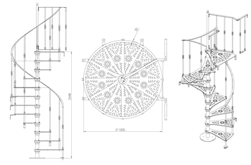 Chidea pianta tonda: Casa in stile  di h-project.it