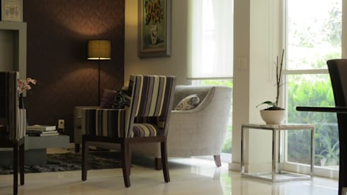 PALMAS 04: Salas de estilo moderno por NIVEL TRES ARQUITECTURA