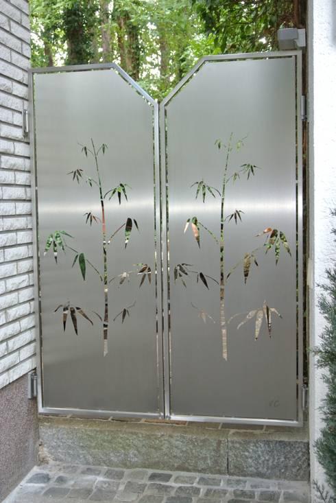 حديقة تنفيذ Edelstahl Atelier Crouse - individuelle Gartentore