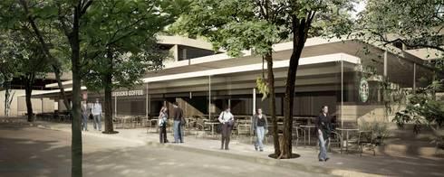 Barrio Universitario:  de estilo  por City Ink Design