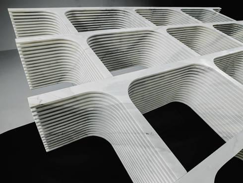 Comb_bench or bookcase:  in stile  di PAOLO ULIAN & MORENO RATTI