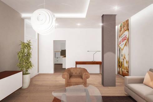 less (money) is more (funny!): Soggiorno in stile in stile Moderno di Danilo Drudi Architetto