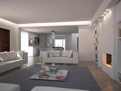 Living GFL - view02: Soggiorno in stile in stile Minimalista di Studio Frasson