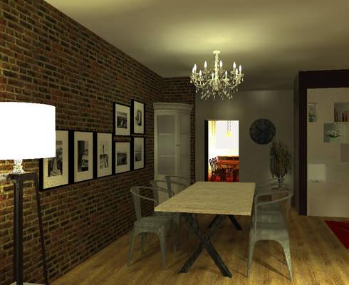 projet r novation d 39 un appartement salle manger por epure homify. Black Bedroom Furniture Sets. Home Design Ideas