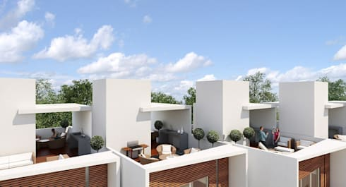 Concepción Beistegui 516:  de estilo  por E+A Arquitecto