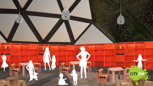 Interior del domo: Jardines de invierno de estilo industrial por City Ink Design