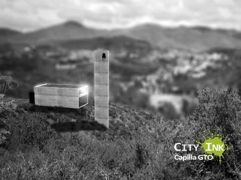 Vista aérea:  de estilo  por City Ink Design
