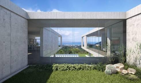 Proyecto 3D  - Villa moderna : Casas de estilo moderno de Realistic-design