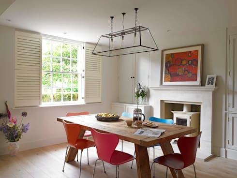 Dining Area, The Wilderness, Wiltshire, Concept Interior: eclectic Dining room by Concept Interior Design & Decoration Ltd
