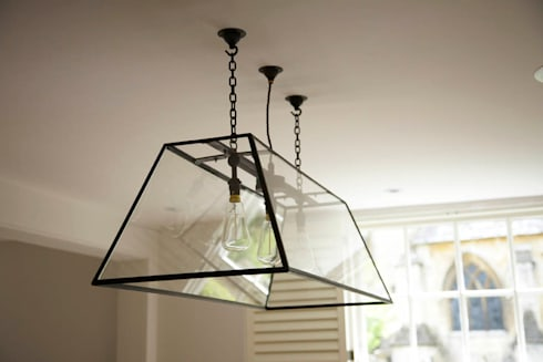Bespoke glass carriage light: classic Living room by Concept Interior Design & Decoration Ltd