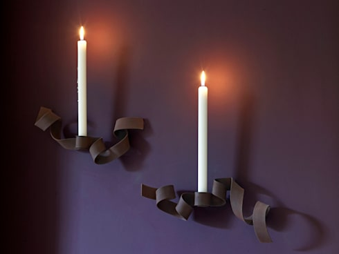 Bespoke candle wall sconces: modern Dining room by Concept Interior Design & Decoration Ltd
