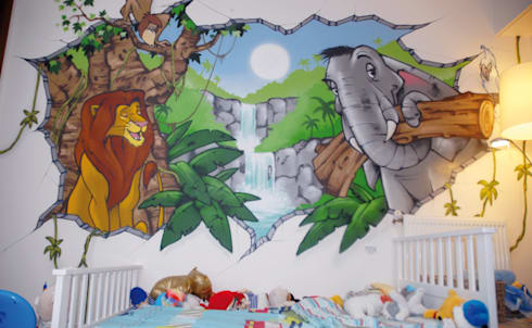 eclectic nurserykids room by popek dcoration