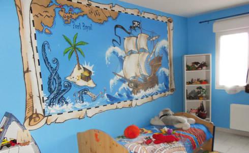 D coration chambre d 39 enfant th me pirate par popek d coration homify - Decoration chambre pirate ...