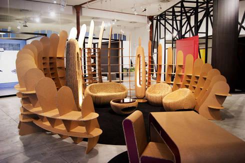 Recyclable Planet: Allestimenti fieristici in stile  di Giancarlo Zema Design Group