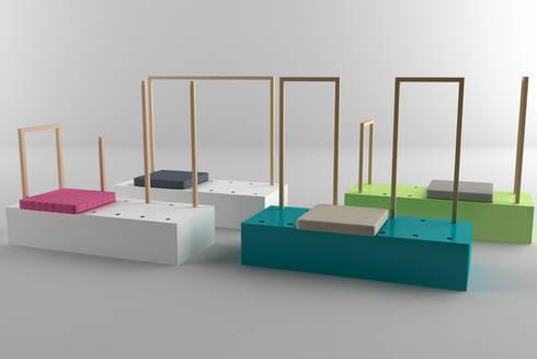 Crea la soluzione che più ti piace!: Ingresso, Corridoio & Scale in stile in stile Moderno di Architetto Paola Cocco