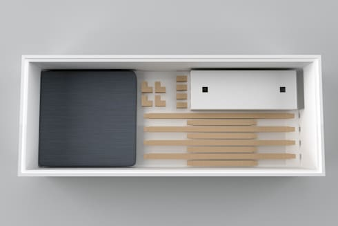BOX: Ingresso, Corridoio & Scale in stile in stile Moderno di Architetto Paola Cocco