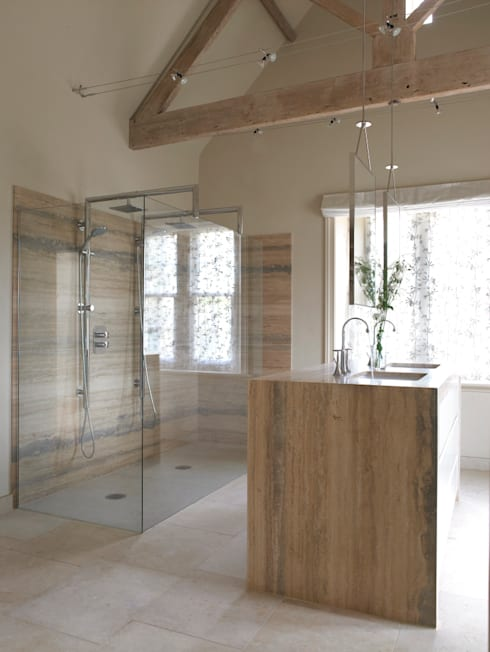 The completed bathroom:   by Concept Interior Design & Decoration Ltd