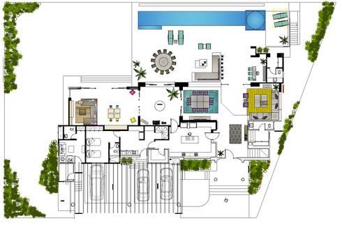 Casa Jalapa:  de estilo  por MARIANGEL COGHLAN